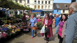 North walsham Market, flowers, fruit, vegetables