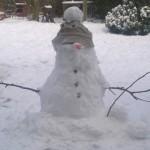 Snowman; March; Norfolk